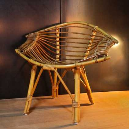Bamboo rattan child chair by Abraham and roll